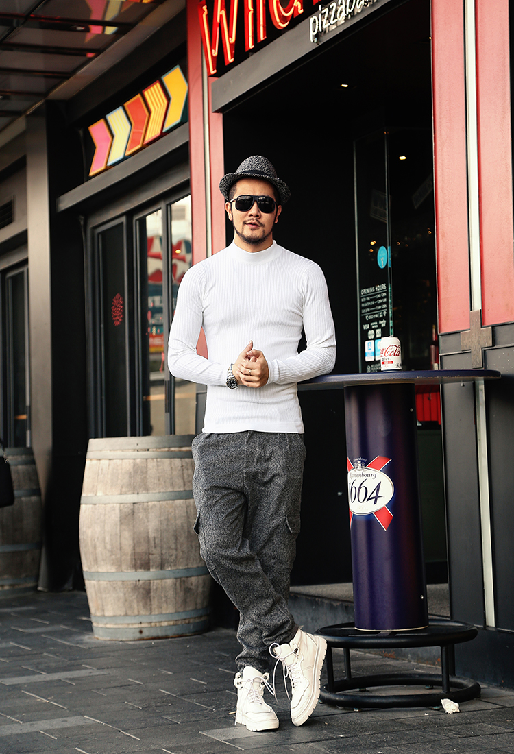 Male Pullovers High Slim 13