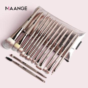 Pędzle do makijażu Pro 5 12 15 sztuk pędzle do makijażu zestaw z Cosmestic Bag Eyeshadow mieszanie pędzel do makijażu do makijażu zestaw narzędzi kosmetycznych tanie i dobre opinie MAANGE Włosy syntetyczne 5 12 15pcs MAG5777 5880SB app 16 2~18 5cm Zestawy i zestawy Drewna High quality Pincel maquiagem