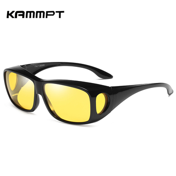 цена на KAMMPT Driving Sun Glasses for Women Anti Glare Night Vision Glasses HD Polarized Sunglasses Eyewear for Men