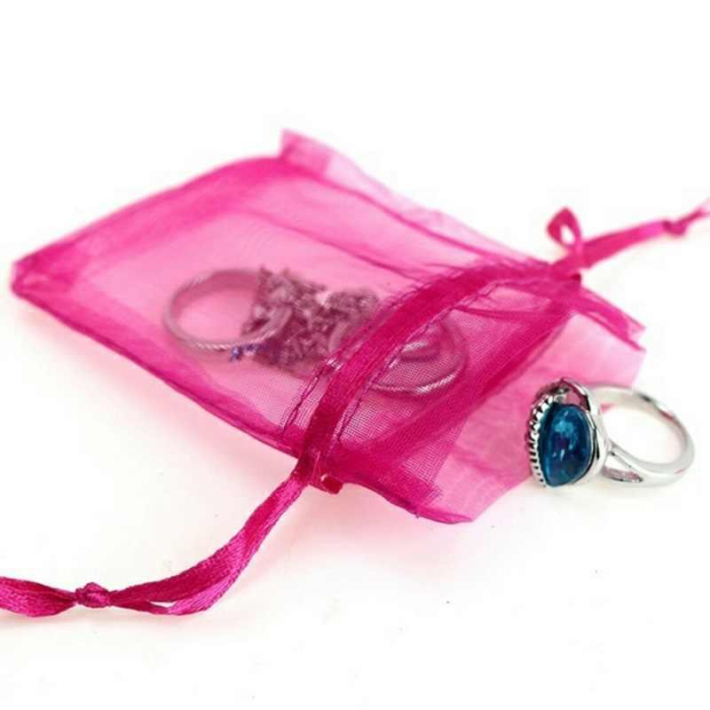 50pcs organza งานแต่งงานตกแต่งของขวัญกระเป๋าของขวัญงานแต่งงาน Favors และของขวัญบรรจุภัณฑ์กล่อง dragees 6z
