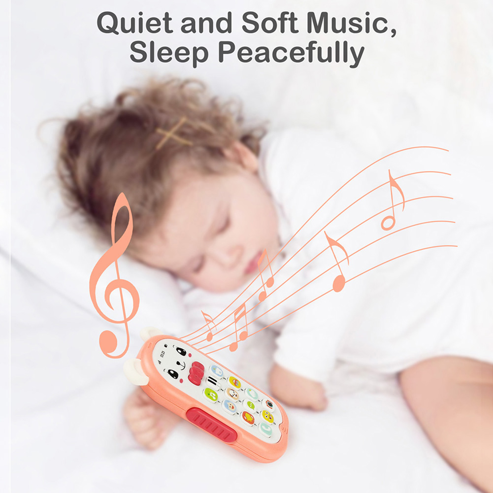 Mobile Phone Toys Machine Kid Early Education Toy Wood Children Simulation Cellphone Music Sound Wood Interactive Presen