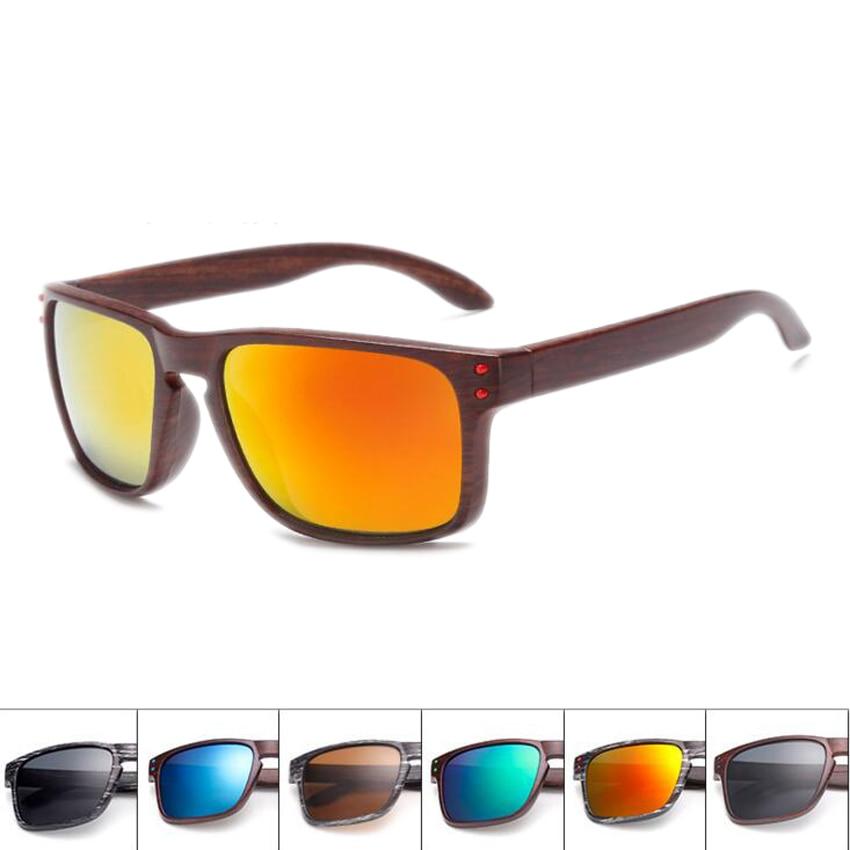 FOENIXSONG 2019 Wood Grain Male Sunglasses UV400 Driving Sun Glasses For Women Retro Men Eyewear Oculos De Sol Black Frames