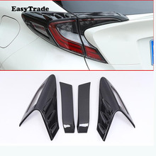 Chrome Car Rear Tail Light Taillight Lamp Cover Trim Eyelid Cover Strip For Toyota CHR C-HR accessories 2019 2018 car styling car styling chrome front fog light taillight trim cover strip sticker for toyota chr c hr accessories 2019 2018 car accessories