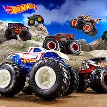 1: 64 Hot Wheels Monster Trucks Металлический Игрушечный Автомобиль Hotwheels гигантские колеса большая коллекция ног дикие столкновения автомобильные игрушки FYJ44