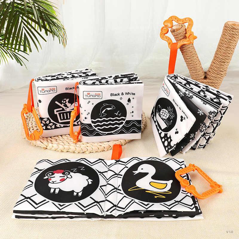 Детские игрушки TUMAMA, мягкие тканевые Книги для малышей, животные, океанская тема, детская книга, 4 упаковки, Игрушки для раннего образования, 0-24 месяца, Juguetes Bebe