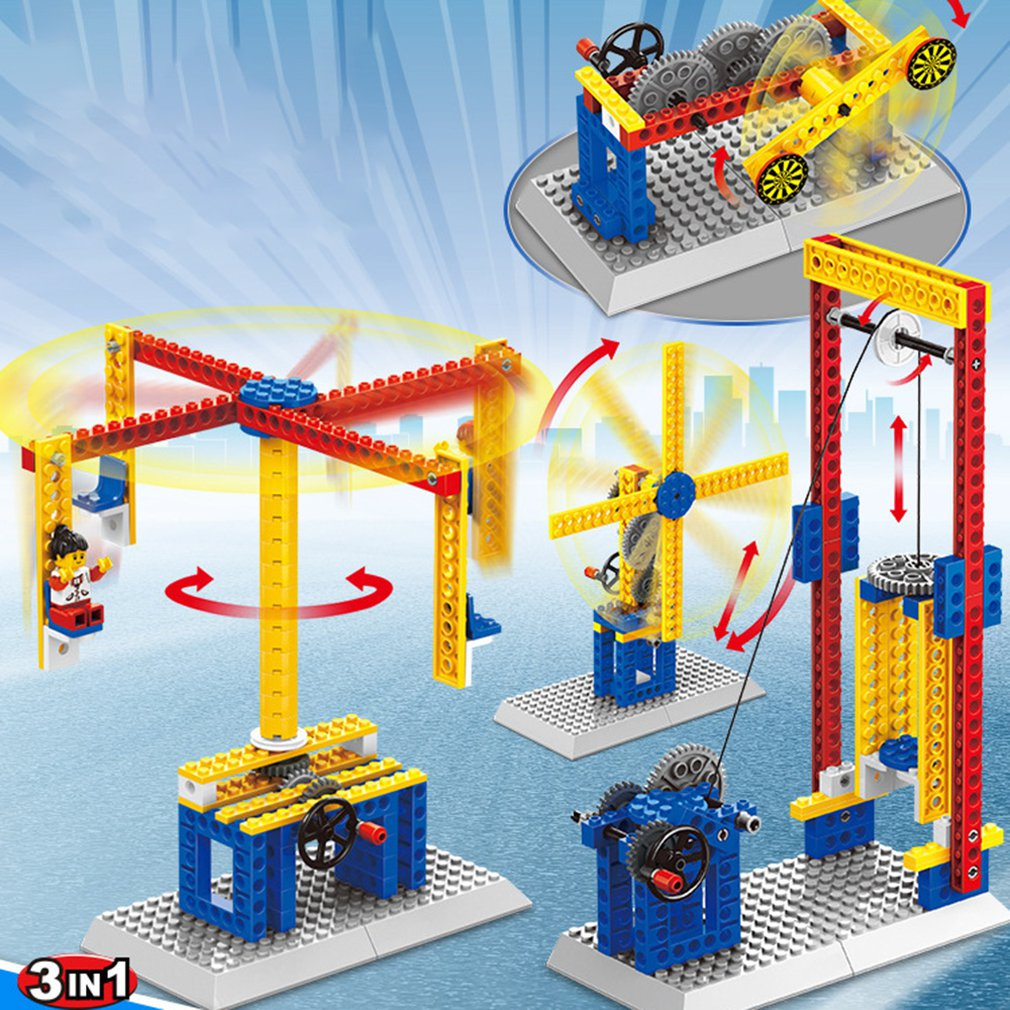 Different Styles Mechanical Building Blocks Toy Gift For Children Science Educational Blocks Of Toys