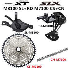 시마노 DEORE XT SLX M8100 M7100 M6100 그룹 세트 MTB 산악 자전거 1x12 속도 10 51T M7100 M8100 시프터 리어 디레일러