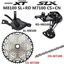 Shimano deore xt slx m8100 m7100 m6100 groupset mtb mountain bike 1x12 speed 10 51t m7100 m8100 shifter desviador traseiro