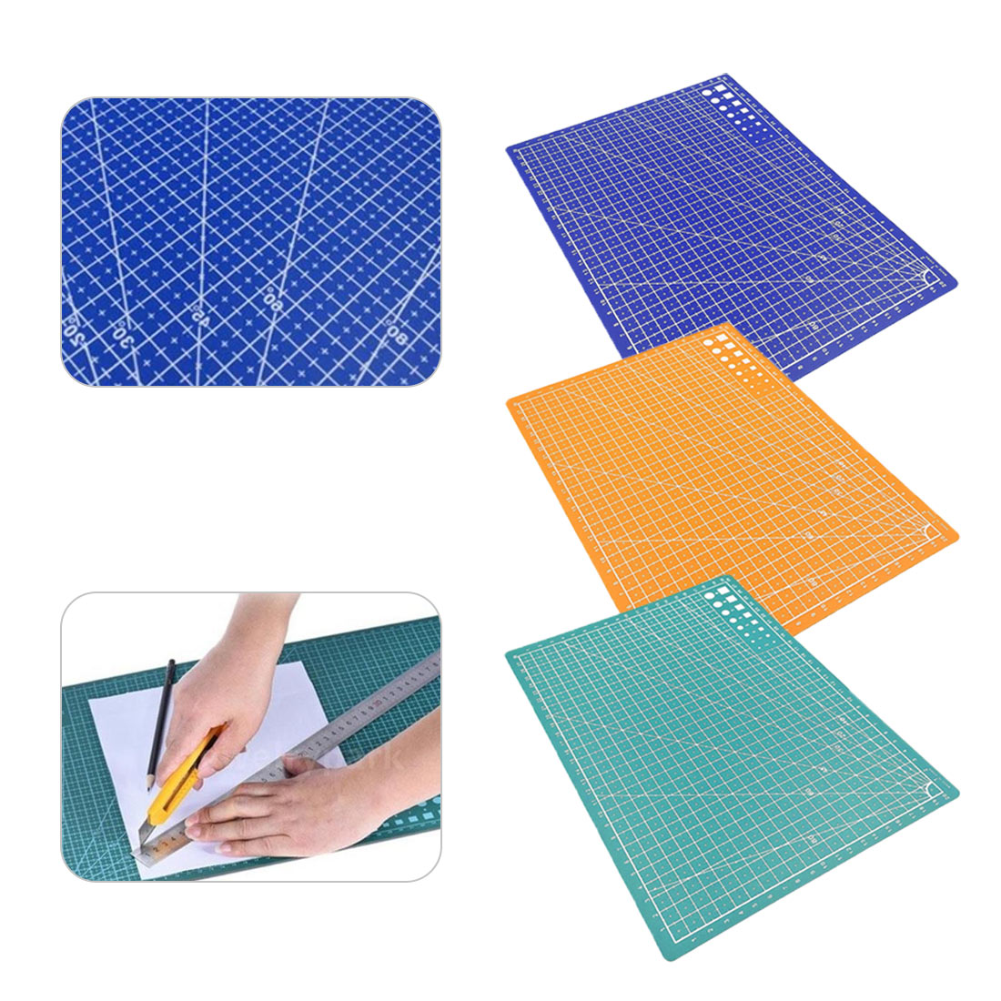 1PC30*20cm Grid Line Self-healing Cutting Pad Craft Card Cloth Leather Cardboard Sewing Tool PP Mat Pad Patchwork Cut Pad