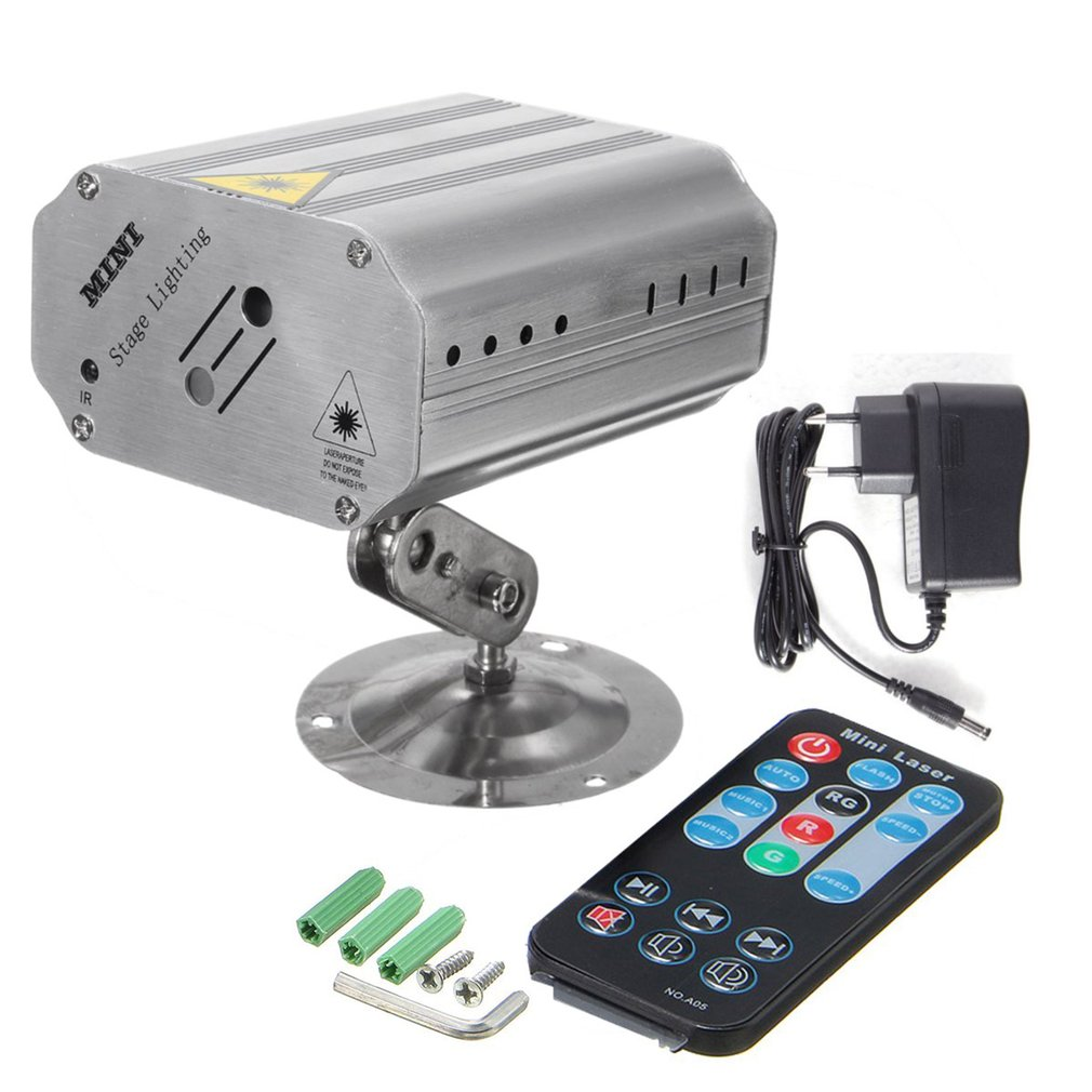 Светодиодный лазерный проектор, сценический светильник, голосовое управление, музыкальный ритм, вспышка, светильник, DJ, дискотека, клуб