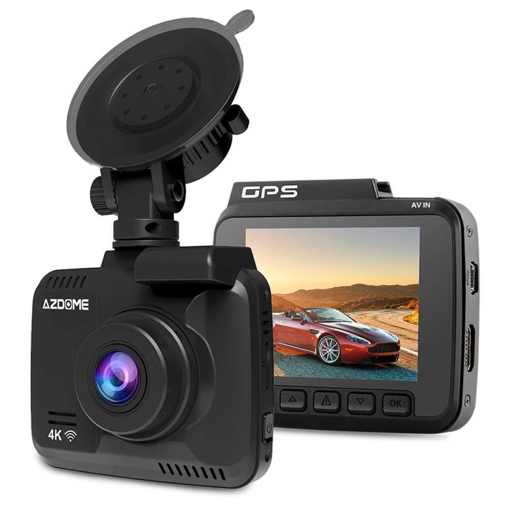 AZDOME Gs63H 4K Встроенный Gps Wifi Автомобильный видеорегистратор для транспорта, с двумя объективами камера заднего вида видеокамера видеорегистр...