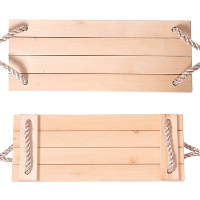 Wooden Chair Garden Swings with Rope 6