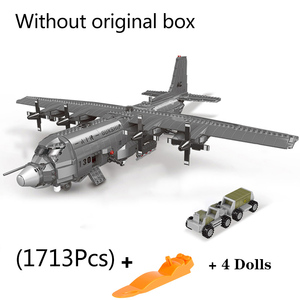 Image 4 - XINGBAO 06023 WW2 Military Army Series The AC130 Aerial Gunboat Set Building Blocks Bricks Assembly Airplane Model Juguetes