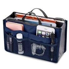 New Ladies Portable Organizer Bag Multifunction Travel Compartment Handbag Women Simple Zipper Storage Cosmetic Bag