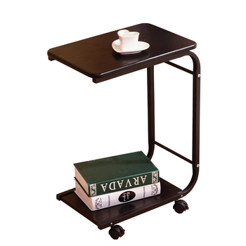 Movable coffee table sofa side  with wheels simple corner  small    tea  bedside
