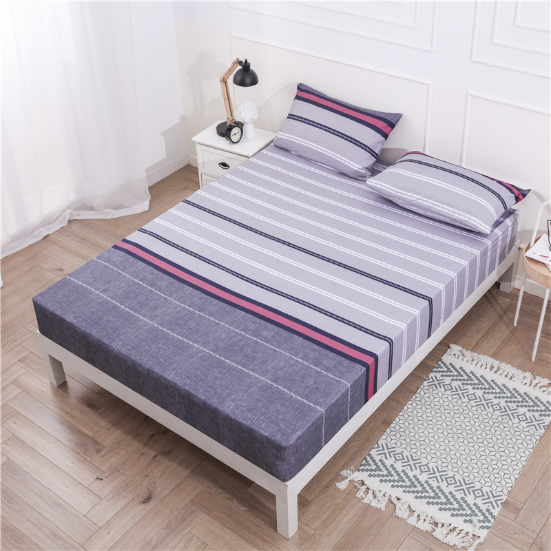 MECEROCK 2020 Fitted Sheet Soft Bed Sheet With Elastic Band Printed Bed Linen Protector Mattress Cover