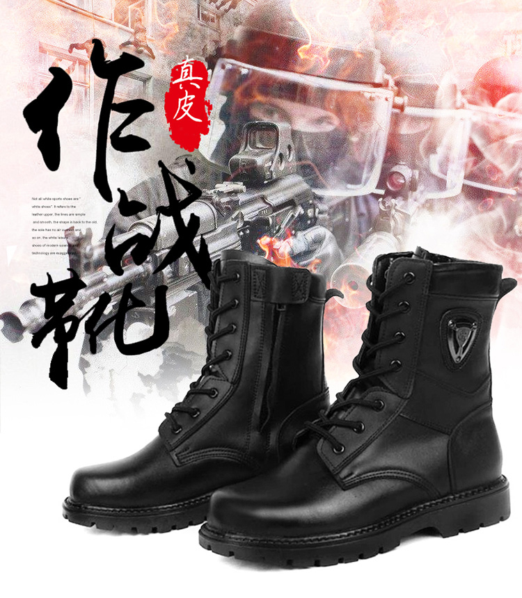 38~45 Warm Fur Army Long Boots Wear-resistant Breathable Outdoor Strong Men Boots High Quality Drop Shipping