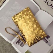 Женский дизайнерский клатч кошелек для монет женская модная