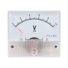 Hot Dc Mechanical Dc Pointer Voltmeter Durable Head 10V(China)