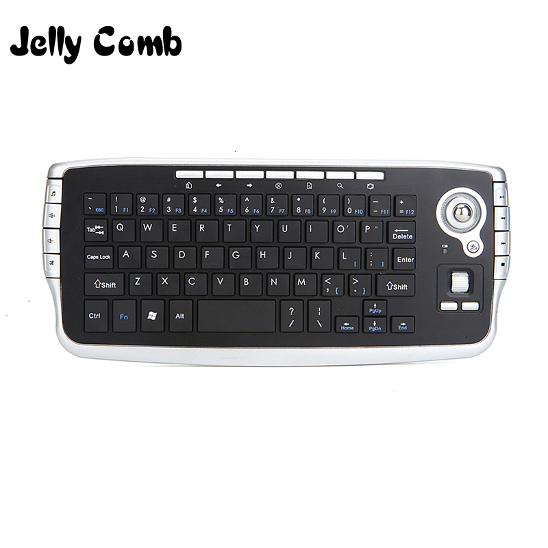 Jelly Comb Mini 2.4G Wireless Keyboard With Trackball Keyboard For Smart TV Box Multi-media Functional Trackball Air Mouse