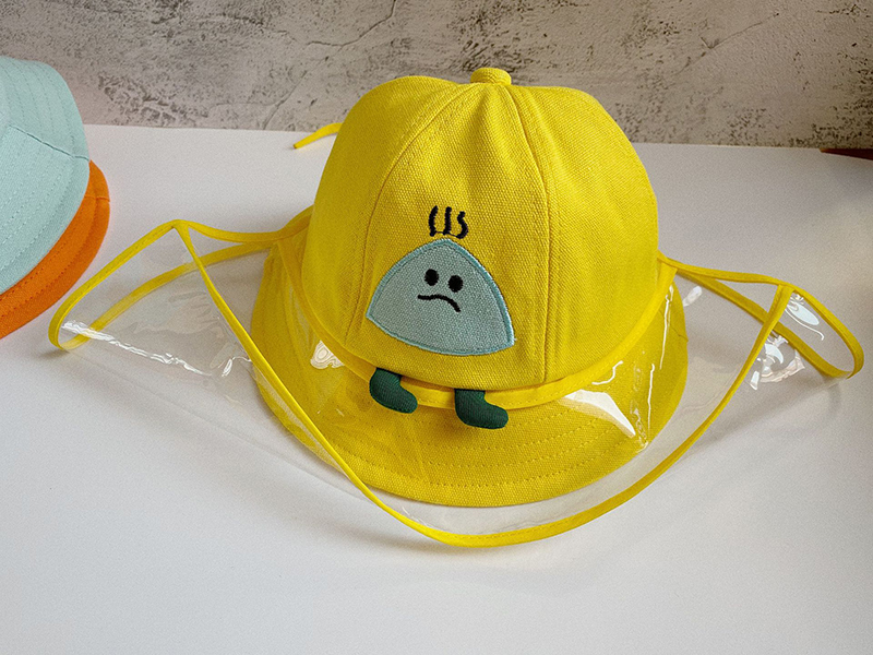 2-7 Year Children Detachable Protective Cap Anti-fog Saliva Hat Windproof Kids Fisherman's Cap With TPU Face Sask