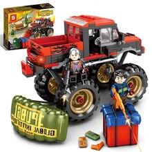 SY1326 282 Uds. SWAT PUBG City ejército armas WW2 soldado monstruo camión modelo bloques de construcción niños juguetes bloques militares
