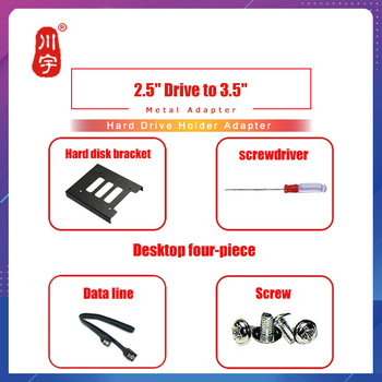 2.5 inch SSD HDD to 3.5 inch Metal Mounting Adapter Bracket Dock Hard Drive Holder For PC Hard Disk Enclosure