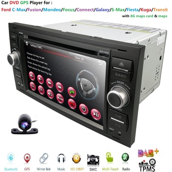 Autoradio Moniceiver DVD Player GPS BT Navigator for Ford C-Max/Connect/Fiesta/Focus/Fusion/Galaxy/Kuga S-Max Transit/Mondeo Cam image