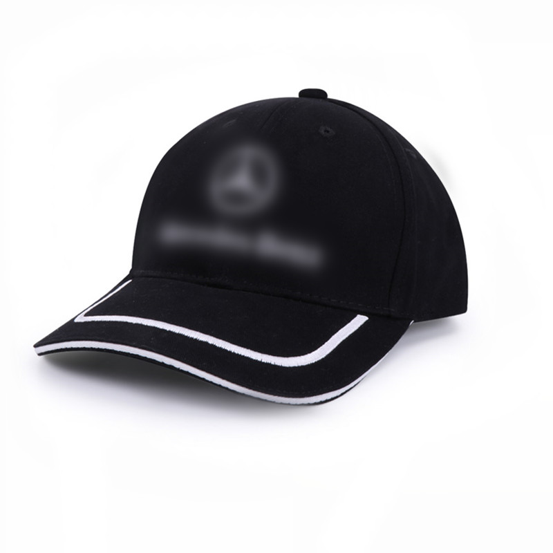 Black Cotton Peaked Cap for Mercedes Benz AMG Logo Baseball Hat Trucker Peaked Cap Outdoor Sunbonnet Casquette Car styling in Key Case for Car from Automobiles Motorcycles