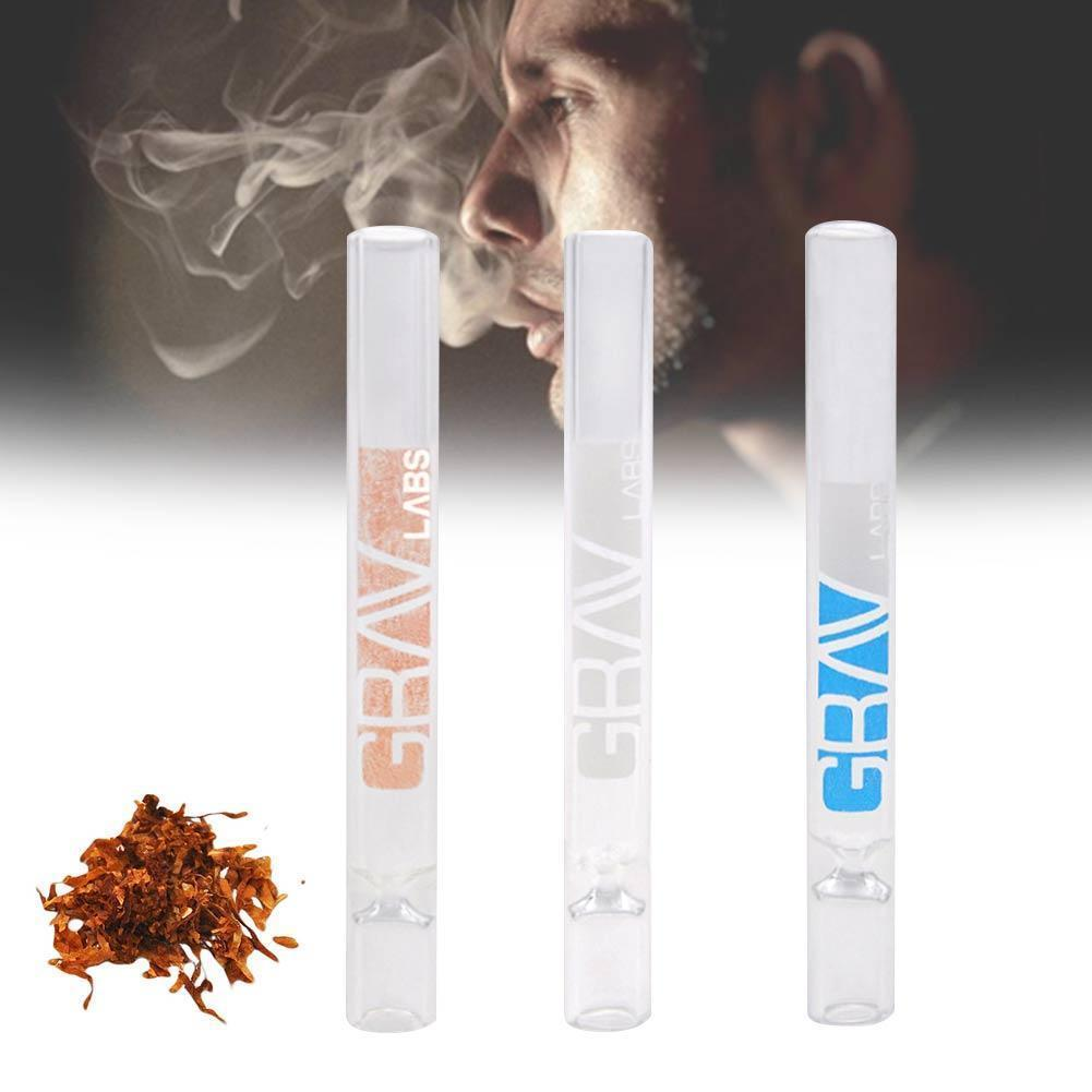 1pc White Portable Glass Tobacco Pipes 105*7mm Mini Health Hookah Tube Holder Weed Grinder Lighter Cigarette Smoke Accessories image