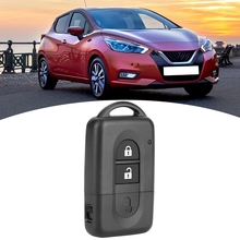 Car Key Case 2 Button Flip Folding Remote Key Fob Shell Cases Replacement Car Key Cover For Nissan Micra For Nissan Parthfinder free shipping 3 button remote key case for nissan micra almera primera without logo 10pcs lot