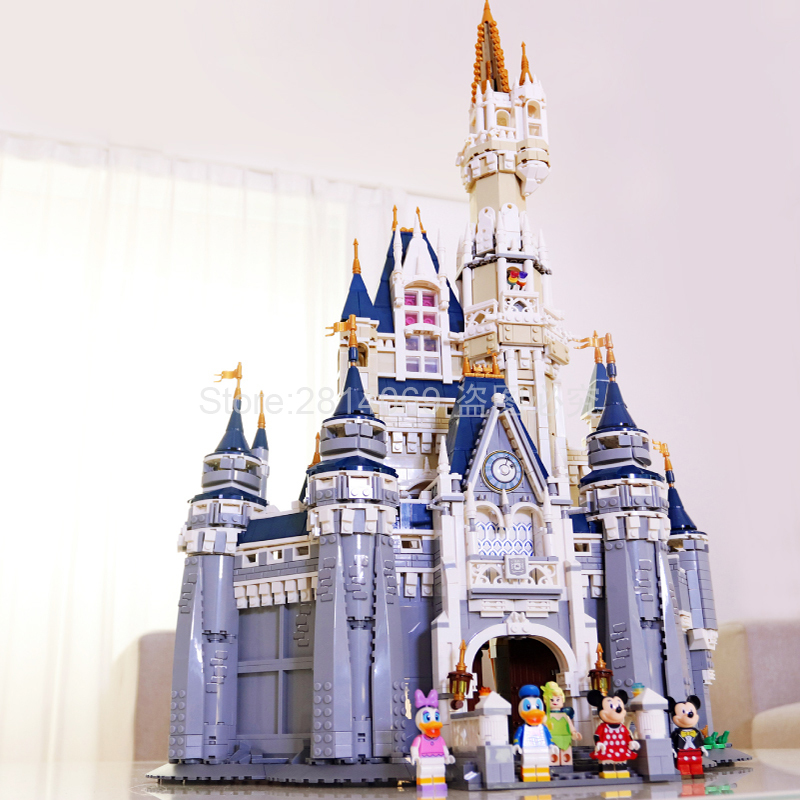 16008 Cinderella Princess Castle City Model Building Block Kid Toys For Children Gift 4080Pcs Compatible With Movie 71040