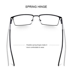Image 3 - MERRYS עיצוב גברים יוקרה טיטניום סגסוגת אופטיקה משקפיים זכר Ultralight עין קוצר ראייה רוחק מרשם משקפיים S2063