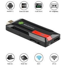 Docooler-llave electrónica MK809 IV para TV, Android 7,1, RK3229, Quad CoreTV Stick, 2G/8G, UHD, 4K, HD, 3D, Mini PC, H.265, WiFi, DLNA, Reproductor Multimedia Inteligente