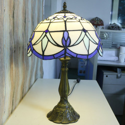 12 Inch Tiffany Table Lamp Stained Glass European Baroque Classic for Living Room E27 110 240V w Lampy stołowe LED od Lampy i oświetlenie na