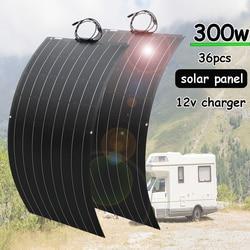 300w solar panel 12v battery charger flexible mono solar cell 150w 100w complete kit 5v usb for phone car RV caravan boat 1000w