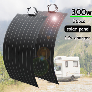 300w solar panel 12v battery charger flexible mono solar cell 150w 100w complete kit 5v usb for phone car RV caravan boat 1000w 20w 12v mono solar panel battery charging kit charger controller boat caravan home outdoor