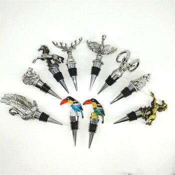 5 スタイル白鳥翼竜ブドウカモシカヘッド亜鉛合金ブドウ赤ワインストッパー保存プラグシャンパンボトルキャップオオハシワインカバー