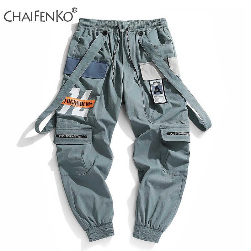 CHAIFENKO 2020 New Hot Jogger Olahraga Rekreasi Celana Pria Hip Hop Streetwear Beam Kaki Celana Fashion Printing Celana Pria