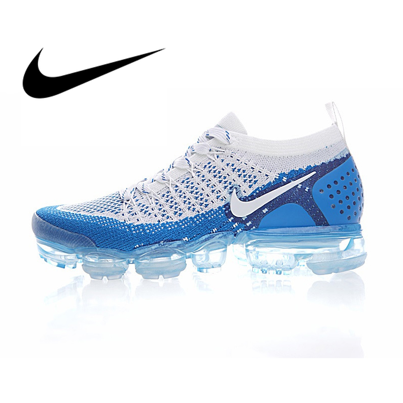 Original NIKE AIR VAPORMAX FLYKNIT 2.0 Running Shoes Men Breathable Durable Athletic Low Cut Comfortable Sports Outdoor Sneakers
