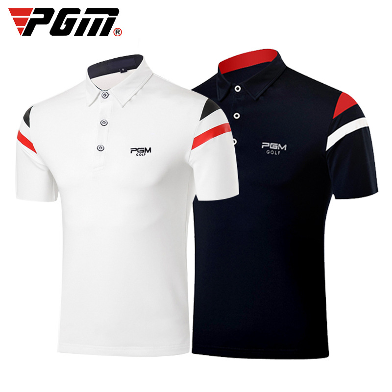 Golf T Shirt PGM  Men's Shirts Summer Breathable Elastic  Short Sleeved Uniforms Golf Clothing Size M-XXL