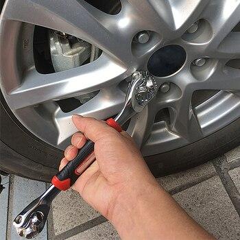 Yalku Tijger Wrench 48 In 1 Gereedschap Socket Werkt Met Spline Bouten Torx 360 Graden 6-Punt Universial Meubels Auto Reparatie 25cm