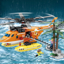 Fire Control Rescue Series Helicopter Bulldozer Beneficial Wisdom Assembling Building Blocks Toys цены