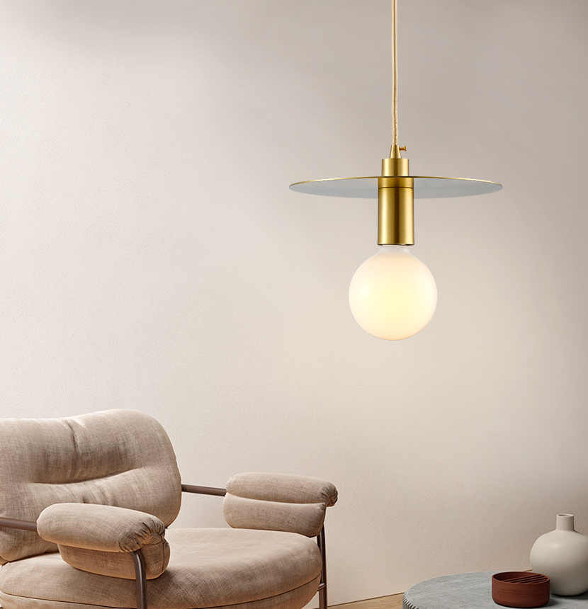 Araña nórdica de cobre tema planeta dorado restaurante bar pasillo tienda de uñas tienda de ropa pequeña mesita de noche