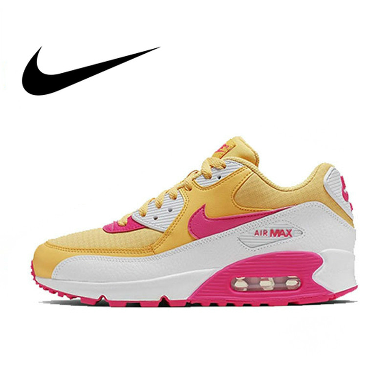 NIKE AIR MAX 90 ESSENTIAL Original Women's Running Shoes Fashion Breathable Outdoor Sneakers 2019 New Color Matching 325213