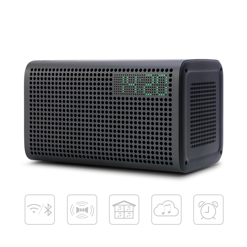 GGMM E3 Bluetooth Speaker Column 10W Powerful WiFi Speakers <font><b>HiFI</b></font> with LED Alarm Loudspeakers Support Alarm Clock Multiroom Play image