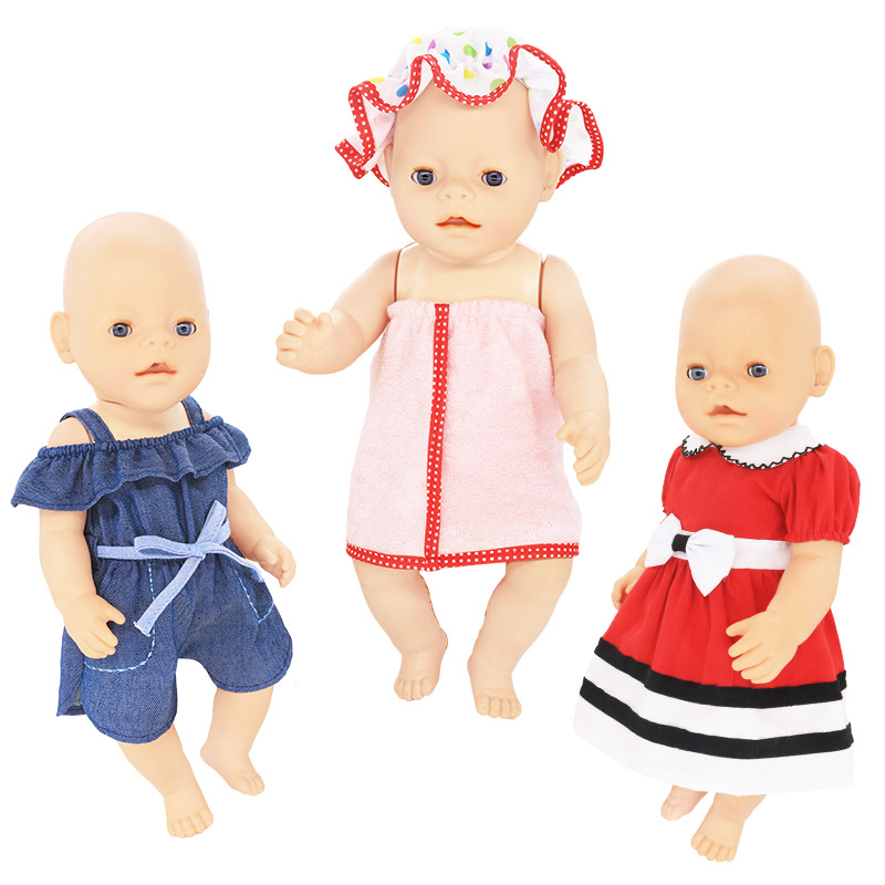 Leisure Set Clothes Fit For 43cm Baby New Born Doll 17 Inch Dolls Clothes,Children Best Birthday Gift