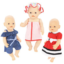 Leisure Set Clothes Fit For 43cm Baby New Born Doll 17 Inch Dolls Clothes,Children best Birthday Gift(China)