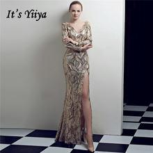Вечернее платье с длинным рукавом it's yiiya праздничные