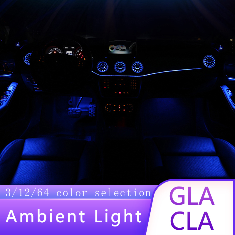 Applicable To Mercedes-Benz GLA / CLA Atmosphere Lamp Glowing Turbine Air Outlet Atmosphere Lamp Interior Decoration